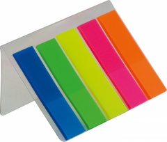 Bookmarks polypropylene with a sticky layer of
