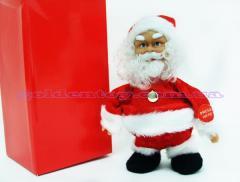 Дед мороз муз., бегает,18 см. в кор. (48 шт/ящ)