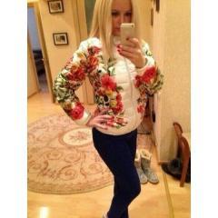 Куртка с цветами ХИТ