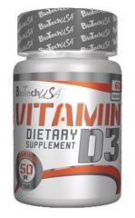 Vitamin D3 50 mcg  BioTech USA 60 caps.