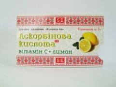 Ascorbic acid Vitamin C + lemon, tablets of 3 g