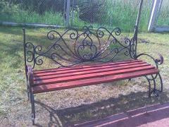 Wrought iron benches Art 4