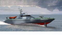 """Катер патрульный быстроходный F300 морской двухвальный глиссер с корпусом типа """"глубокое V"""" для патрулирования морских прибрежных районов, выполнения задач полицейской, таможенной и рыбоохранной службы"""