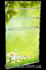 ИК стеклокерамический  полотенцесушитель-обогреватель 2 в 1  HGlass GHT 6010 фотопечать 650/325 Вт