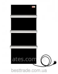 ИК керамический панельный полотенцесушитель-обогреватель 2 в 1  DIMOL чёрный 370 Вт