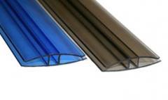 Profile polycarbonate connecting ROYALPLAST HP