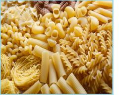 Macaroni and a large assortment of packaged