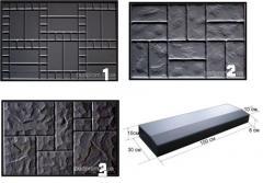 Forms for plates of road 50х75х80 cm
