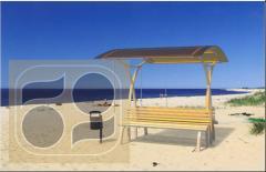 Скамья-навес для мест отдыха, парков, курортных