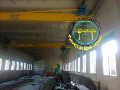 Crane beam suspended