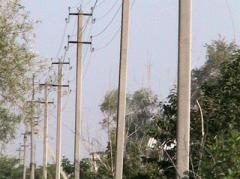 High voltage line support reinforced concrete