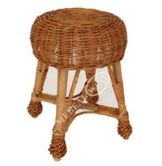 Shop of a wicker furniture, Stool from a rod