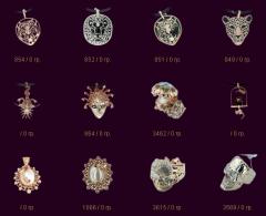 Перстни, печатки, серьги, кольца, эксклюзивные