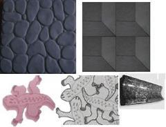 Forms for a sidewalk plitkiforma of a marbled tile