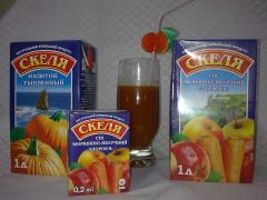 Сок томатный, яблочный, персиковый,абрикосовый,