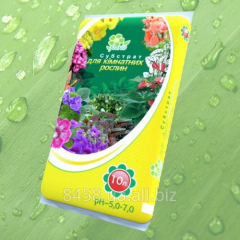 Substratum for houseplants on the basis of peat,