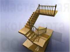 Wooden ladders from the producer
