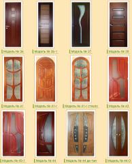 Wooden doors from an alder