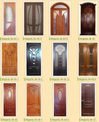 Wooden doors from an oak