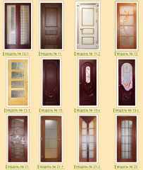 Wooden doors from a pine