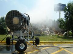 Dust suppression installations