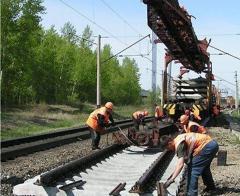 Construction of railway tracks in Ukraine