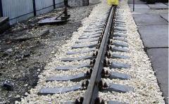 Будівництво залізничної під'їзної коліїУкладання