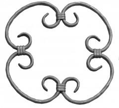 Rosettes forged