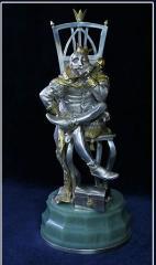 Шахматы. Серебро. фигура Король белый