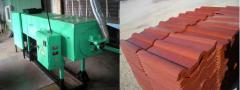 Equipment for production polymer of a sandy tile