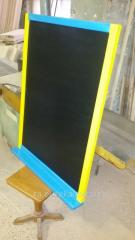 Boards menus with gilding for the letter chalk,
