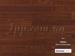 Паркетная доска Tarkett Tango Ясень коньяк браш.
