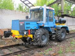 Wheel and rail KRT-1 tractor