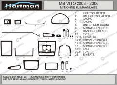 Pad on the Mercedes Vito 639 panel