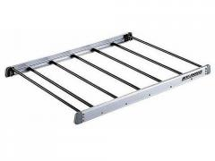 Aluminum luggage carrier on VW Touareg roof with