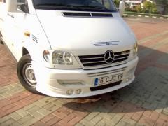 Aerodynamic bumper 4 headlights on Mercedes