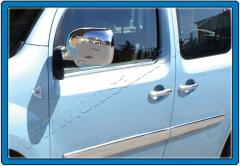 Pad on mirrors from stainless steel on