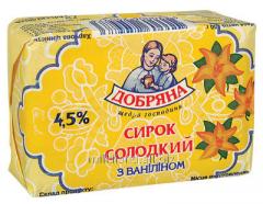 Сирок солодкий з ваніліном, суцільномолочна