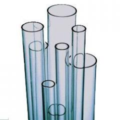 Pipes from transparent borosilicate glass