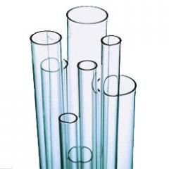 Pipes from transparent quartz glass