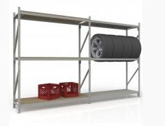 Стеллаж полочно-рамный МГб400: нагрузка до 400 кг.
