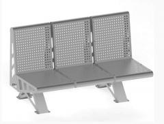 Скамейка металлическая без поручней