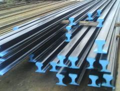 Rails for the railroad Rails crane