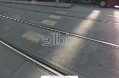 Rails for the railroad tramway rails