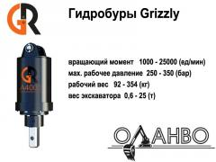 Hydraulic drills (hydroborers) of GRizzly on the