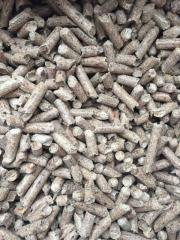Strongly fuel wood pellets of 6-8 mm