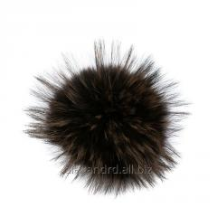 Pompons, buboes raccoon colored dark colors (skin)