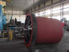 Drums crane with a diameter from 500 mm to 2850