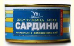 Сардины в масле: САРДИНЫ натуральные с добавлением
