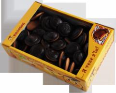 Cookies biscuit (various tastes) in dark chocolate